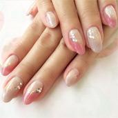 ピンクグラ+ストーン